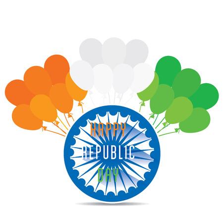 independencia: happy republic day greeting card design vector Vectores