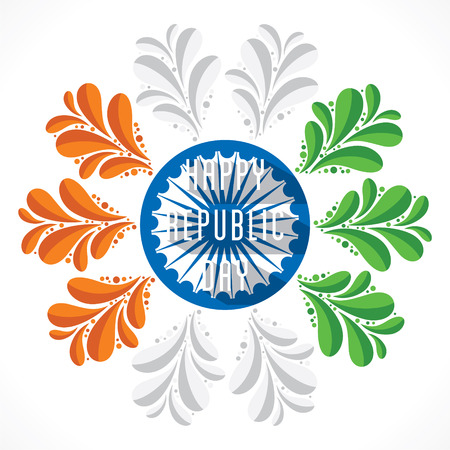 the flora: happy republic day flora design  Illustration