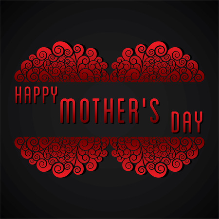 greeting card invitation: creative happy mothers day greeting card design vector
