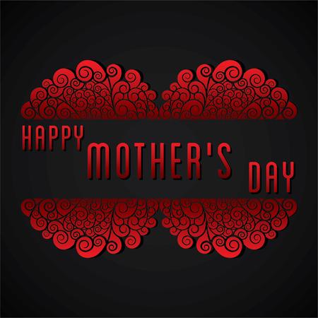 tarjeta de invitacion: de felicitaci�n del d�a de dise�o vector de la tarjeta creativa de la madre feliz