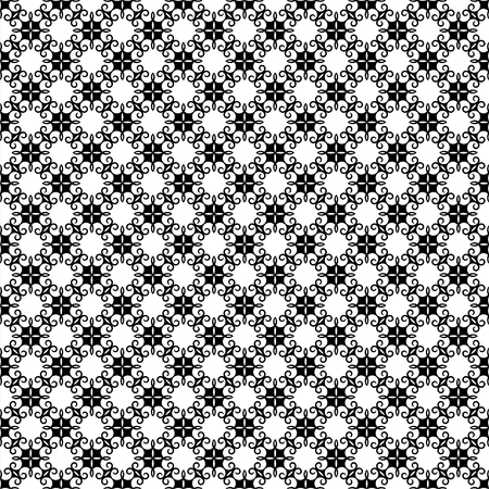 flora: creative black and white flora pattern background vector