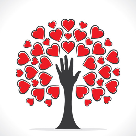 love tree: creative valentines tree design or share your love design