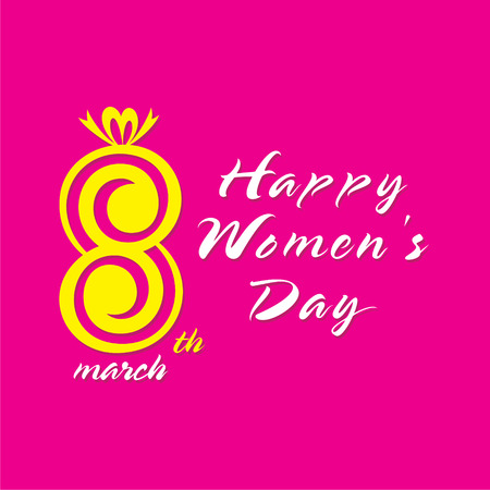 self esteem: happy womens day greeting design, celebrate on 8 of march design