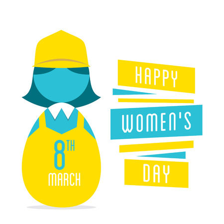 womens work: happy womens day, women  profession design