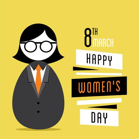 womens work: happy womens day design, business women design
