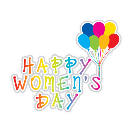 womens work: colorful happy womens day greeting design vector