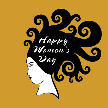 womens work: happy womens day greeting design vector