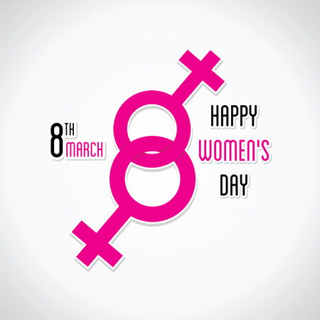 womens work: happy womens day greeting design using female symbol design vector