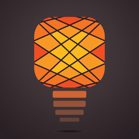 yellow bulb: creative yellow bulb vector background Illustration