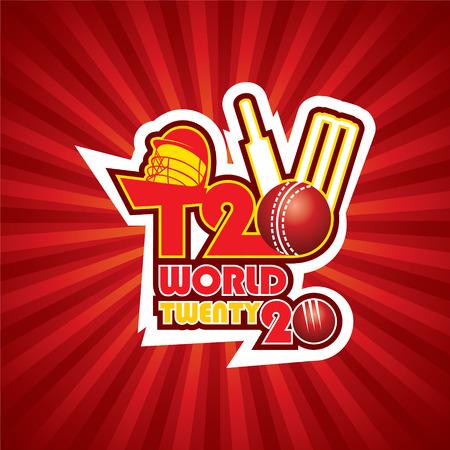cricket ball: creative T20 cricket world cup banner design vector