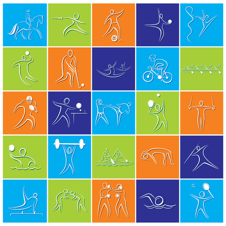 badminton: different game icon or symbol design Illustration