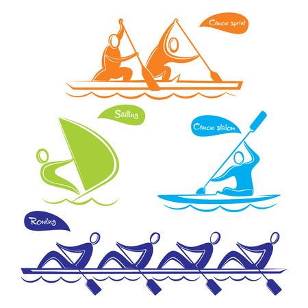 Wassersport Symbol Design Vektorgrafik