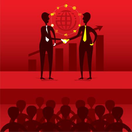 join hand: partnership concept, business leader join hand for business deal or partnership concept design