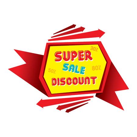 discount banner: abstract super sale discount banner design vector Illustration
