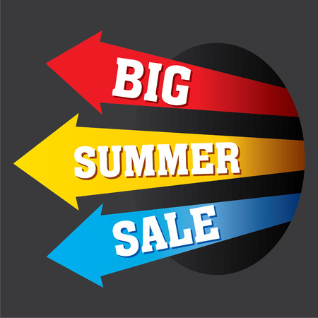 hot summer: creative colorful big summer sale banner design vector Illustration
