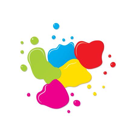 abstrait couleur splash vecteur de fond