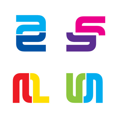 e u: creative letter symbol design for your company sign design vector