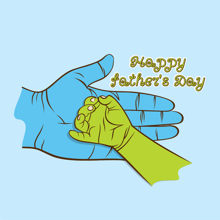 happy fathers day greeting design vector Illustration