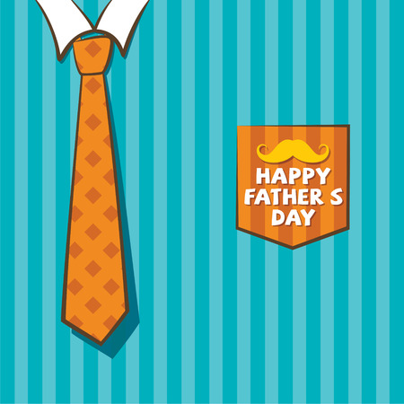 mustached: creative happy fathers day greeting design vector