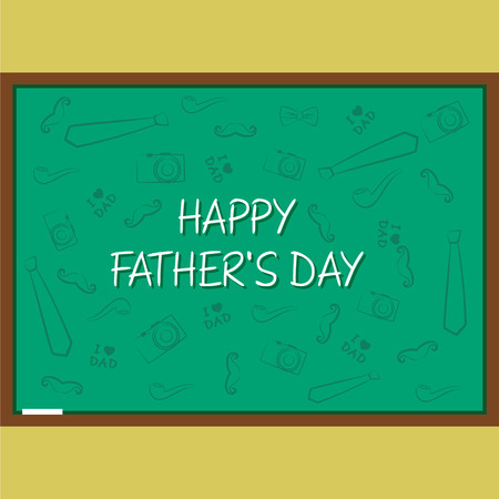 upbringing: creative happy fathers day greeting design vector