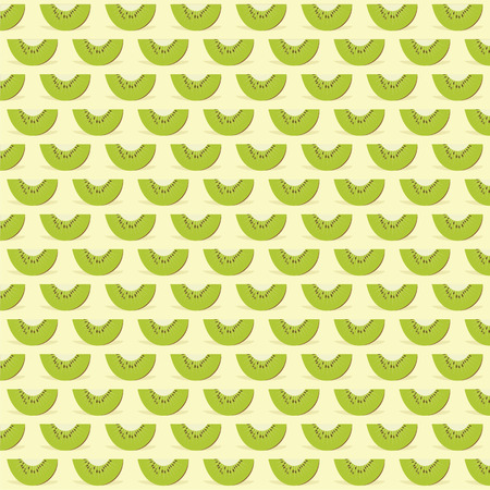 kiwi fruit: kiwi fruit pattern background design vector Illustration