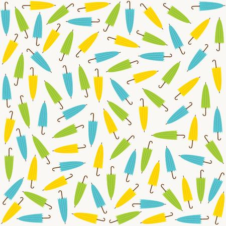 bue: random colorful umbrella pattern design vector