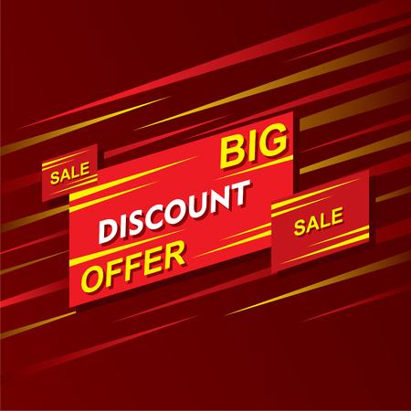 discount banner: big discount offer banner design vector Illustration
