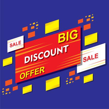 discount banner: big discount offer banner or poster design vector