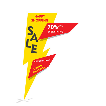 limited time: happy shopping , limited time offer sale on  everything banner  design vector