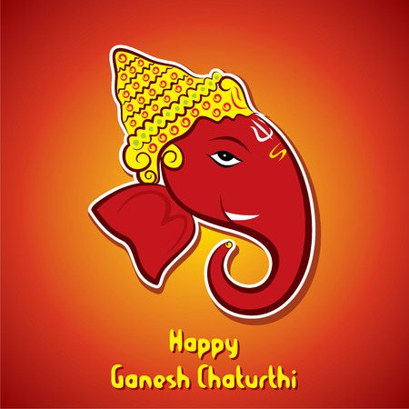 ganesh idol: happy ganesh chaturthi festival banner or poster design vector