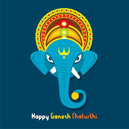 creative happy Ganesha chaturthi festival greeting design vector