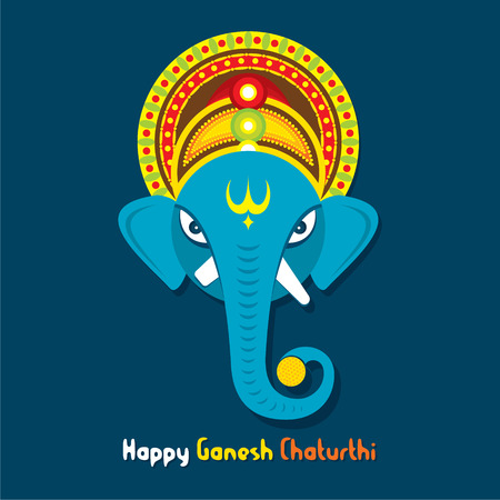 creative happy Ganesha chaturthi festival greeting design vector