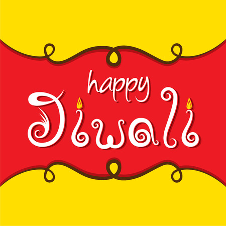 diyas: creative happy diwali festival greeting or poster design vector