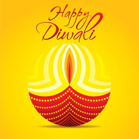 happy diwali festival greeting or poster design vector Illustration