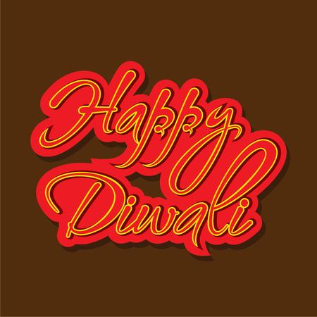 creative happy diwali text calligraphy design Illustration
