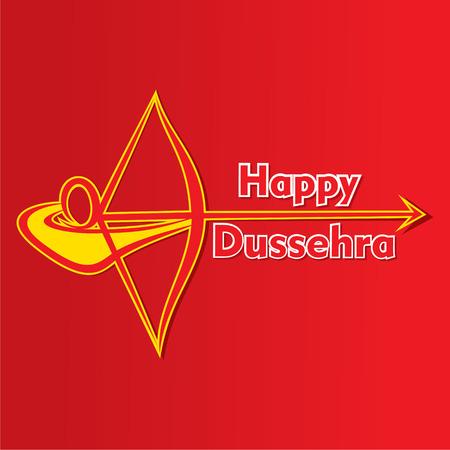happy dussehra festival poster or greeting design vector