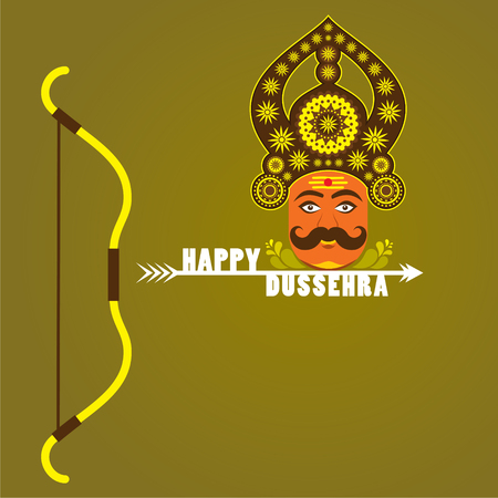 ramayan: happy dussehra festival poster or greeting design vector