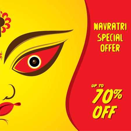 navratri special offer banner design vector
