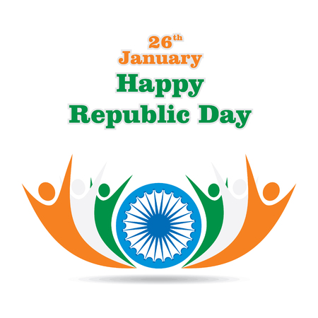 indian people celebrate , happy indian republic day design