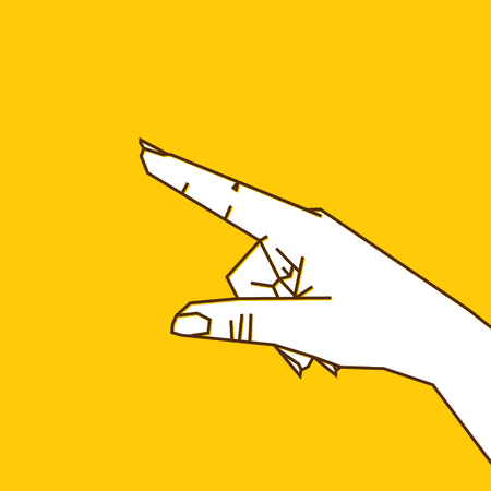 forefinger pointing anything or gesture design