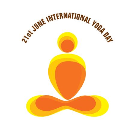 leaf logo: creative yoga pose icon design for international yoga day Illustration