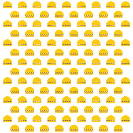 abstract burger shape pattern design
