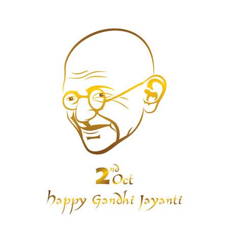 Poster of Mahatma Gandhi, 2nd october Gandhi Jayanti illustration design Illustration