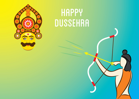 dashamukha: happy dussehra festival banner design