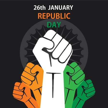 Happy republic day of India banner design vector illustration