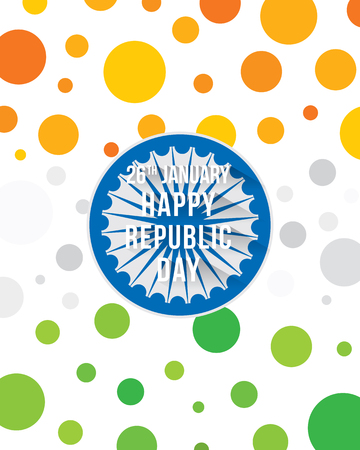 A happy republic day of india banner design, tricolor circle pattern