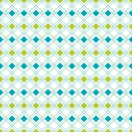 A vector seamless geometrical pattern design with blue and green color