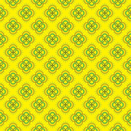 Repeating geometrical flower pattern design.