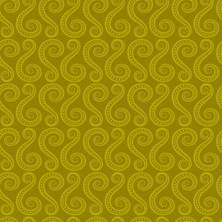 Creative swirl style seamless design pattern. Illustration