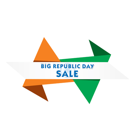 Big Indian republic day sale banner design illustration. Ilustracja